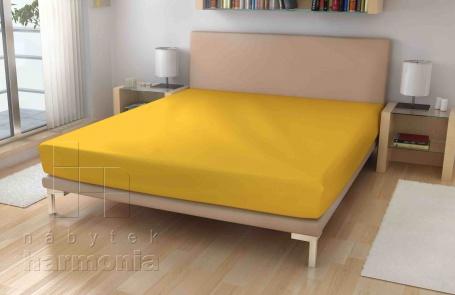Jersey prostěradlo - žloukově žlutá