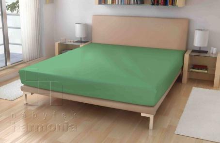 Jersey prostěradlo - Olivově zelené