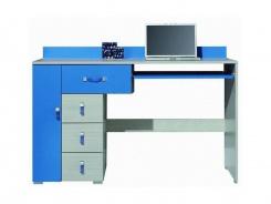 Psací stůl Adéla XIII - jasan/modrý