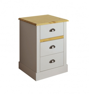 Noční stolek Andry - světle šedý/přírodní