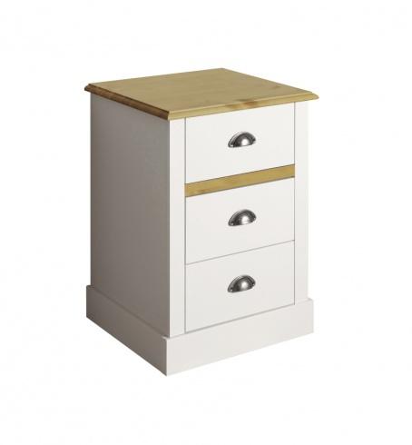 Noční stolek Andry - bílý/přírodní