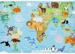 Dětský koberec MAPA SVĚTA
