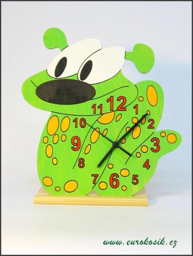 Dětské hodiny nástěnné i stojací Had