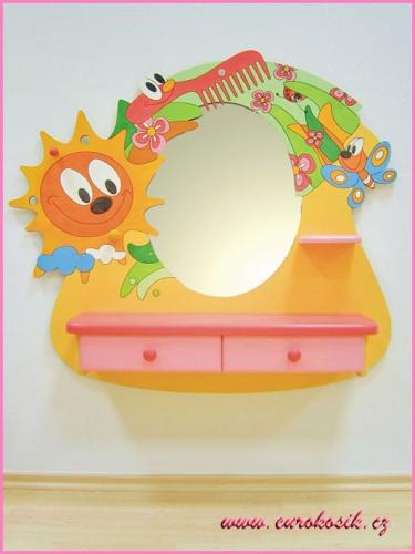 Dětské kadeřnictví motýl se zrcadlem