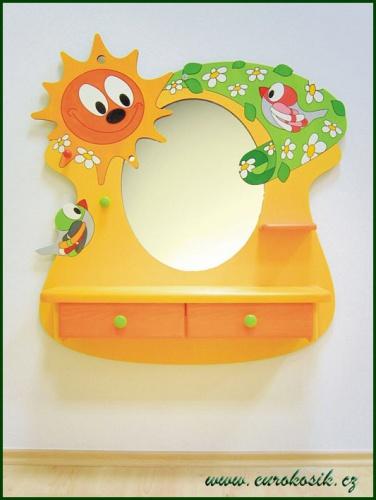 Dětské kadeřnictví ptáček se zrcadlem