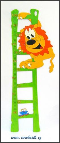 Dětský metr Lev zelený