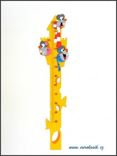 Dětský metr na zeď Myši