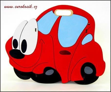 Dětský odpadkový koš Auto červené
