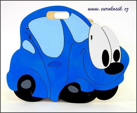 Dětský odpadkový koš Auto modré