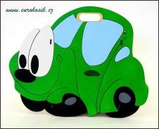 Dětský odpadkový koš Auto zelené