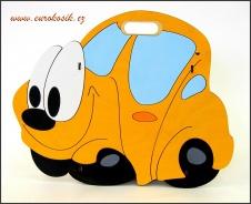 Dětský odpadkový koš Auto žluté