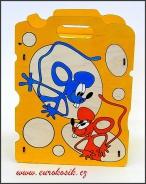 Dětský odpadkový koš Myši v sýru