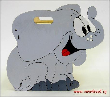 Dětský odpadkový koš Slon světlý