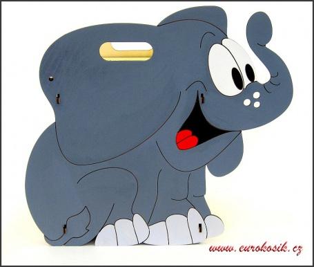 Dětský odpadkový koš Slon tmavý