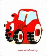 Dětský odpadkový koš Traktor červený