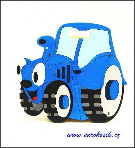 Dětský odpadkový koš Traktor modrý