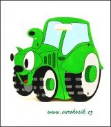 Dětský odpadkový koš Traktor zelený