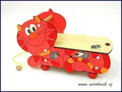 Vozítko Kočka červená