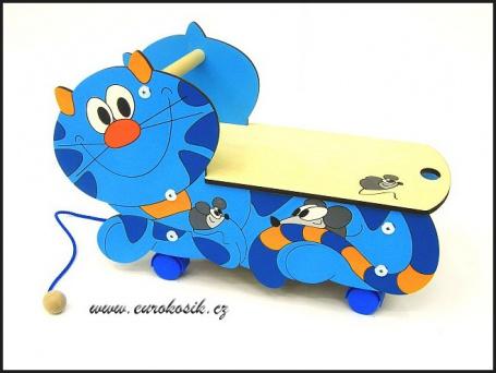 Vozítko Kočka modrá