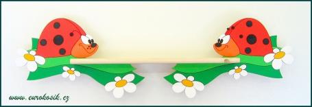 Dětská polička Beruška 60 cm