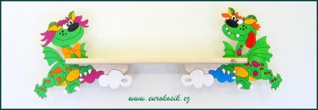 Dětská polička Drak 90 cm