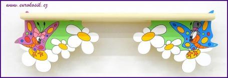 Dětská polička Motýl spodní 60 cm