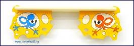 Dětská polička Myši v sýru spodní 60 cm