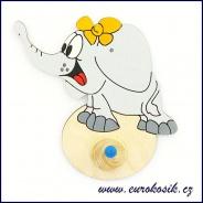 Dětský věšák Slon s mašlí 13x15cm