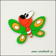 Dekorace na zeď motýl zelený 30cm