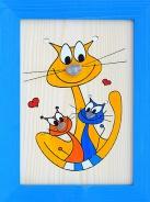 Dětský obrázek kočka s koťaty
