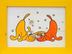 Dětský obrázek psi žlutý