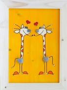 Dětský obrázek žirafy  žlutý