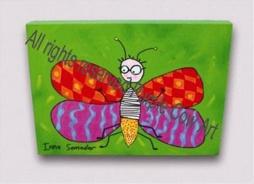 Dětský obrázek motýl zelený