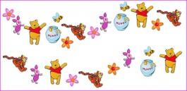 Pěnová dekorace na zeď mini Medvídek pů