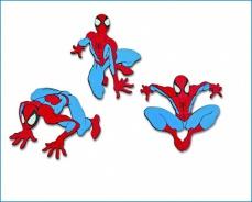 Pěnová dětská dekorace Spidermann 3ks