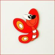 Dětská dekorace Motýl 30cm červený