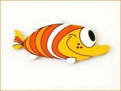 Dětská dekorace Ryba oranž. 55cm