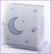Dětská lampička Měsíček modrofialová