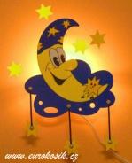 Lampička měsíček s hvězdičkami