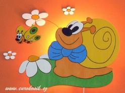 Lampička šnek s motýlkem + dekorace
