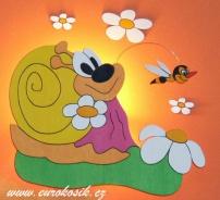 Nástěnná lampička šneková s vosou + dekorace