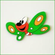 Dětská dekorace Motýl 30cm zelený