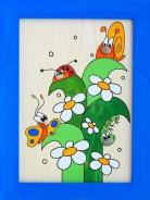 Dětský obrázek Tráva s broučky