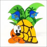 Stojánek na tužky želva žlutá