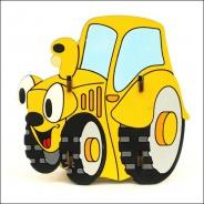 Stojánek na tužky traktor žlutý