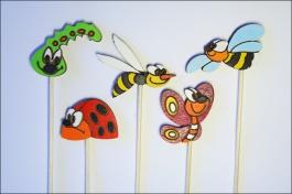 Zápichy do květináče - Mix hmyz 5 ks