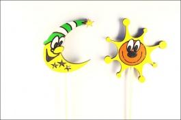 Zápichy do květináče - Sluníčko a měsíček