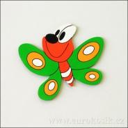 Dekorace na zeď motýl zelený 20 cm