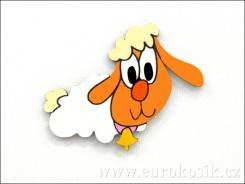 Dekorace ovečka holka 10cm - balení 3ks