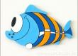 Dekorace ryba modrá 16,5cm - balení 2ks